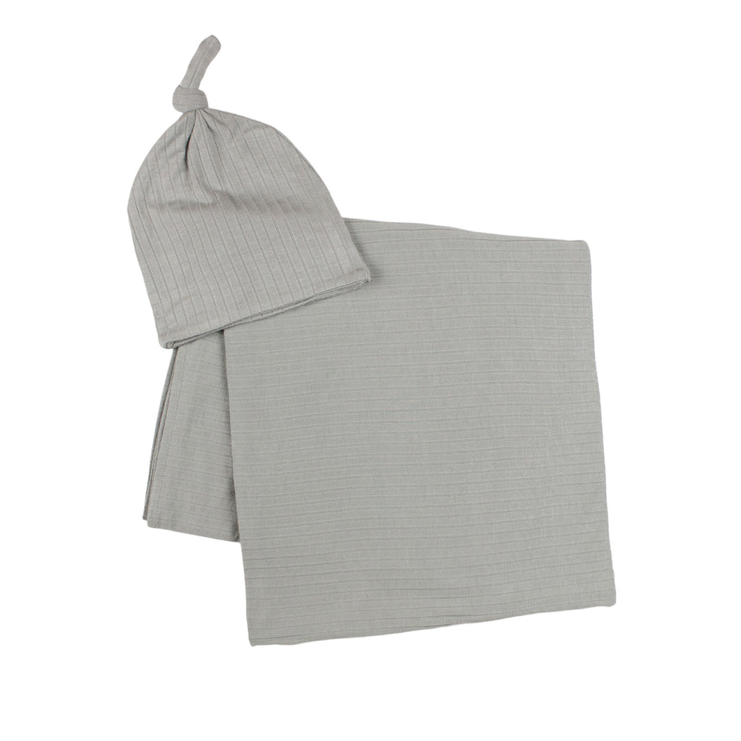 Gray Stretchy Swaddle Set