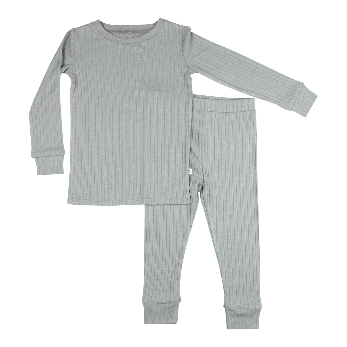 Gray Ribbed Two-Piece Set