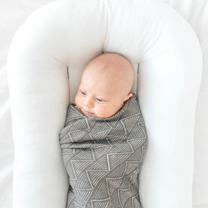 Charcoal Triangles Muslin Swaddle