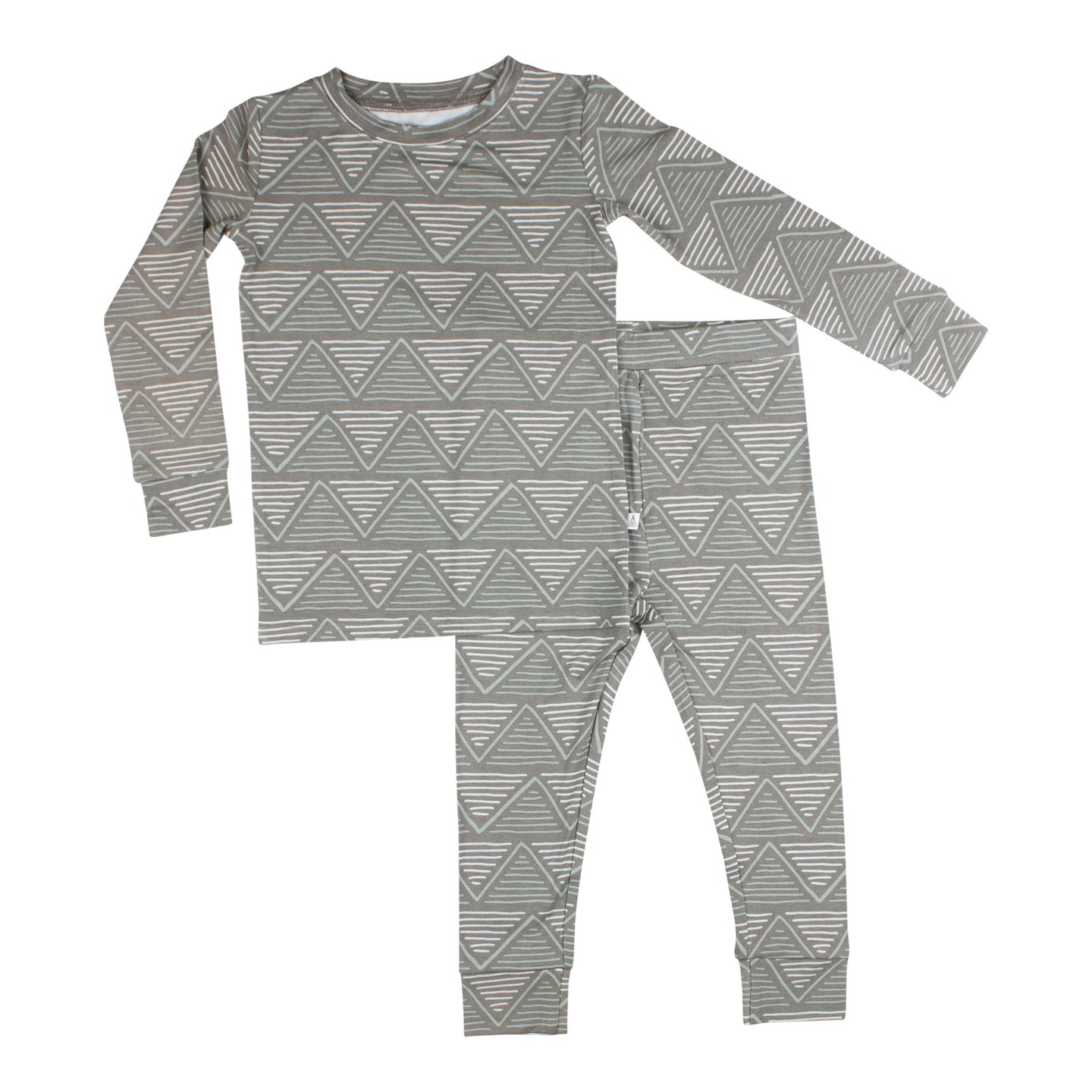 Charcoal Triangles Two-Piece Set