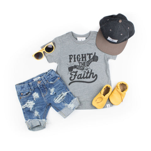 Fight The Good Fight Of Faith Shirt - Brave Little Ones   - 1