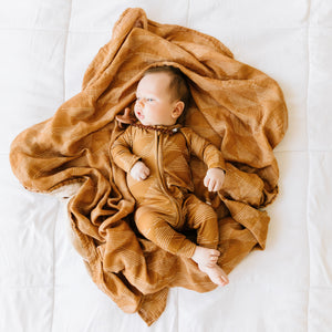 Camel Triangles Muslin Swaddle