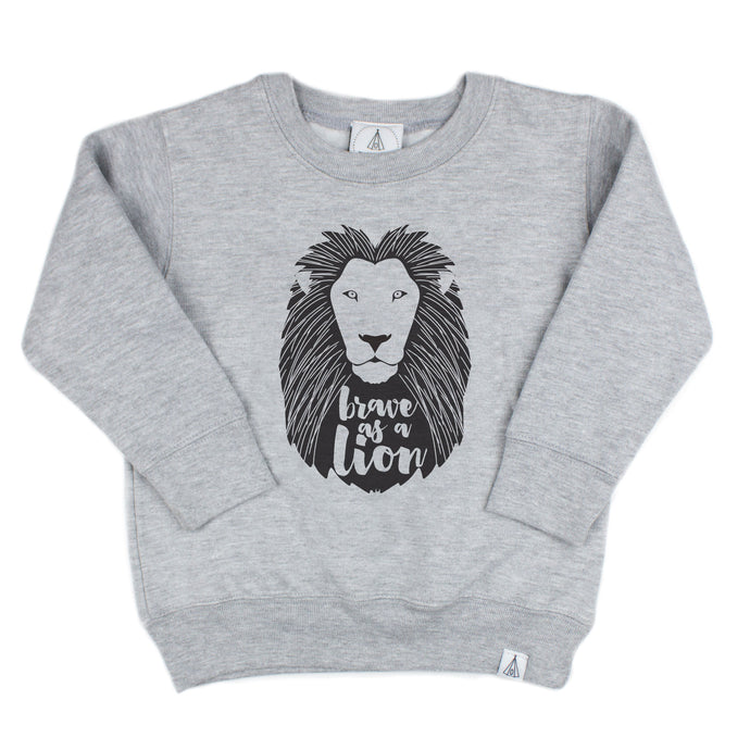 Brave As A Lion Fleece Pullover