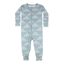 Blue Triangles Zip Romper