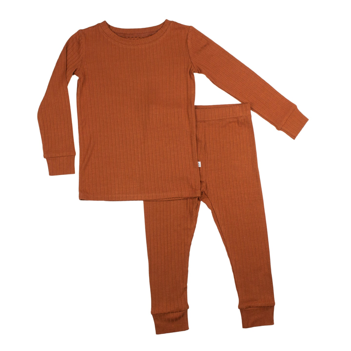 Rust Ribbed Two-Piece Set