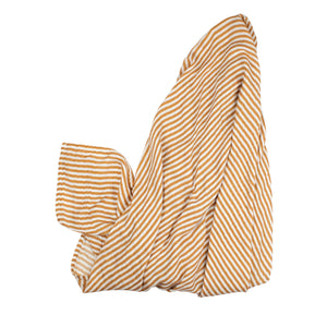 Camel Stripe Muslin Swaddle