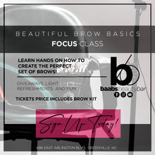 Beautiful Brow Basics Focus Class