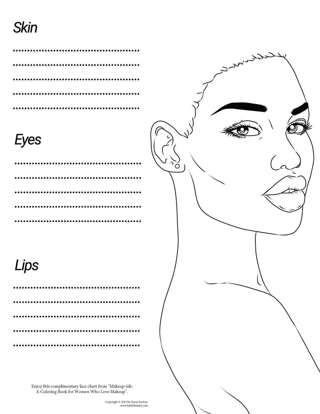 Makeup Ish Coloring Book Freebee