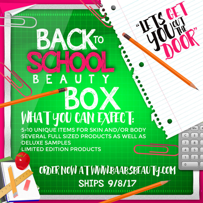 Back to School Beauty Box (Ships 9/8/17)