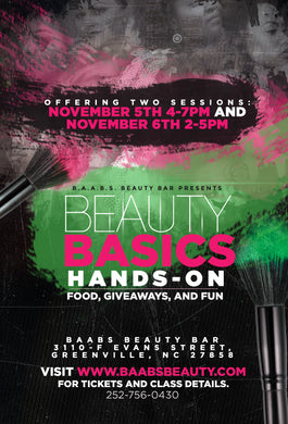 BAABS Beauty Basics II (Greenville,NC)