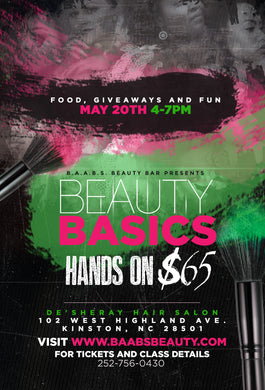 BAABS Beauty Basics Hands On  (Kinston,NC)