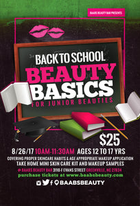 "BAABS Beauty Basics ""Back to School"""