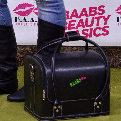 BAABS Luxury Soft Leather Train Case