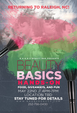 Event- BAABS Beauty Basics (Raleigh,NC)