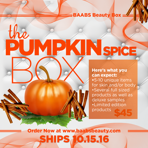 The Pumpkin Spice Box (Ships 10/15/16)