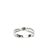 002 BRAIDING RING - 1 STONE