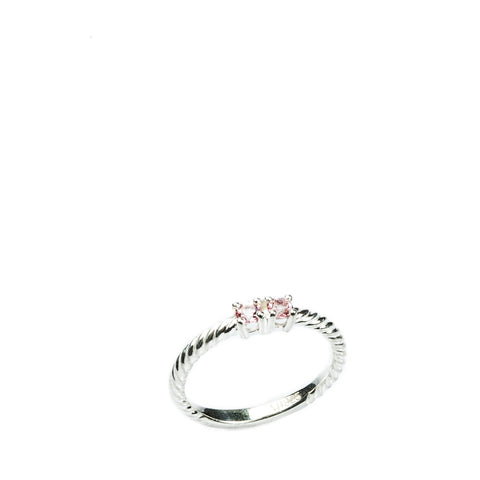 002 BRAIDING RING - 2 STONE