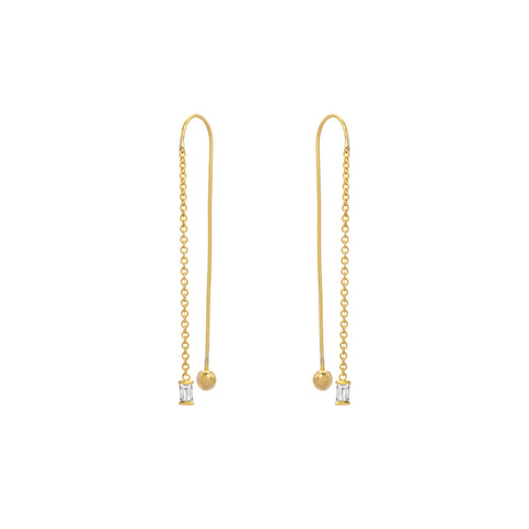 CRADLE DIAMOND DROP EARRING