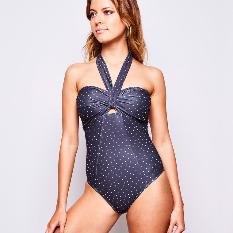 ADINA ONE PIECE DOTS GREY