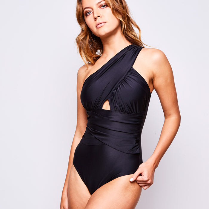 2017 summer 2 elle one piece black swimsuit contessa volpi
