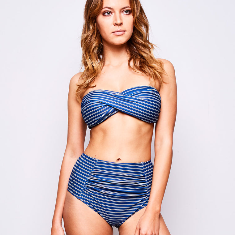 ERICA BIKINI STRIPES NAVY BLUE