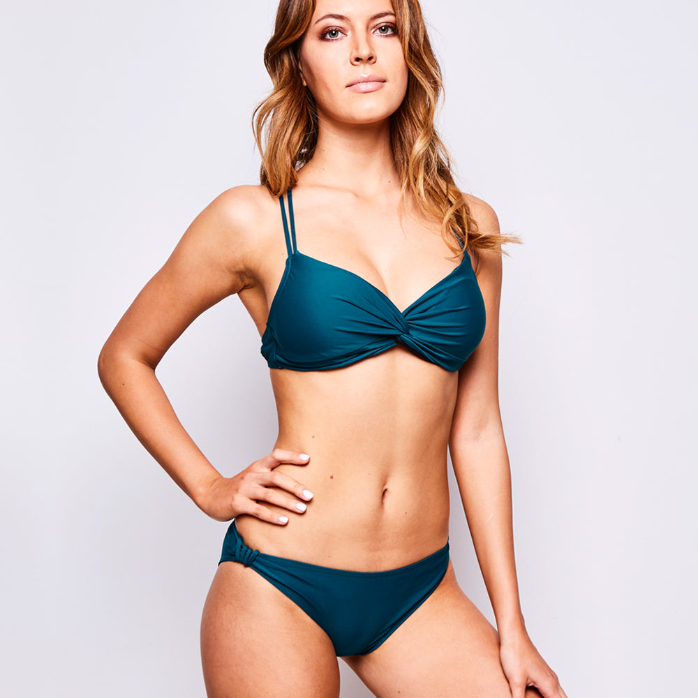 "Estelle Bikini Dark Green -""It is the most exquisite fabric, and feels sifts on my skin"""