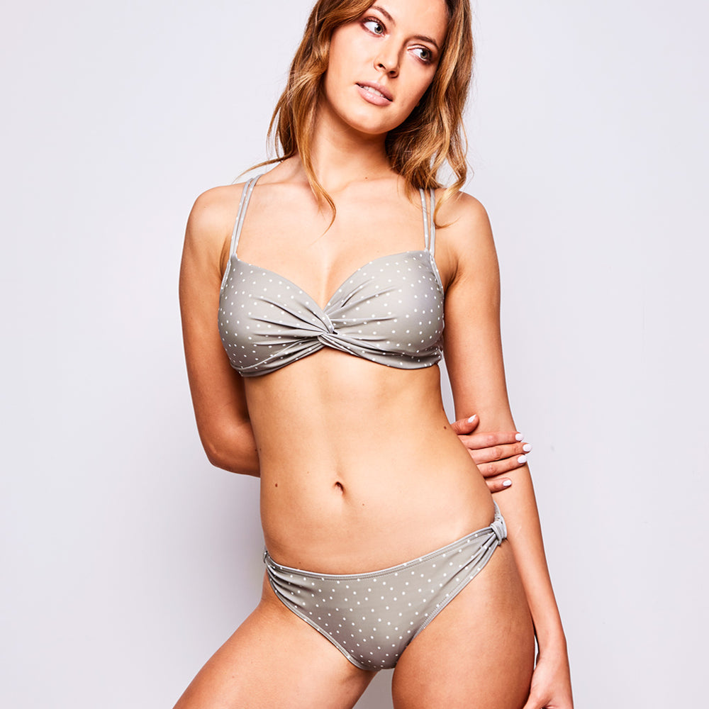 Estelle Bikini Dots Silver Sage - 'Obsessed with my Contessa Volpi's exclusive bikini!' Sara L. - Swimwear by Contessa Volpi