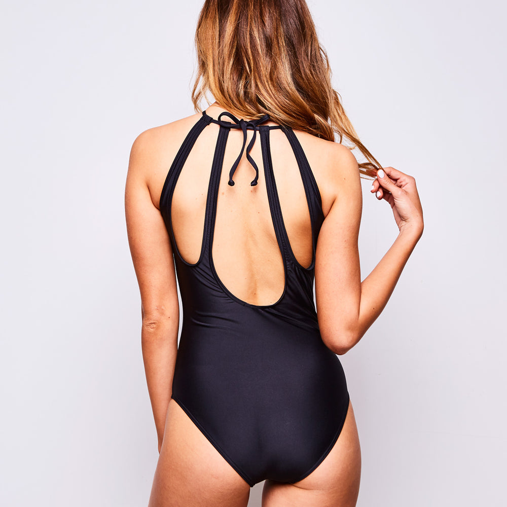 EMMA ONE PIECE BLACK - Swimwear by Contessa Volpi