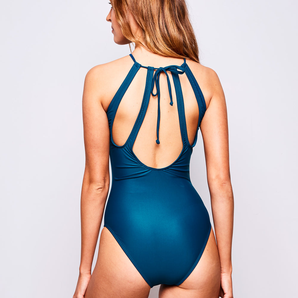 EMMA ONE PIECE FRENCH BLUE - Swimwear by Contessa Volpi