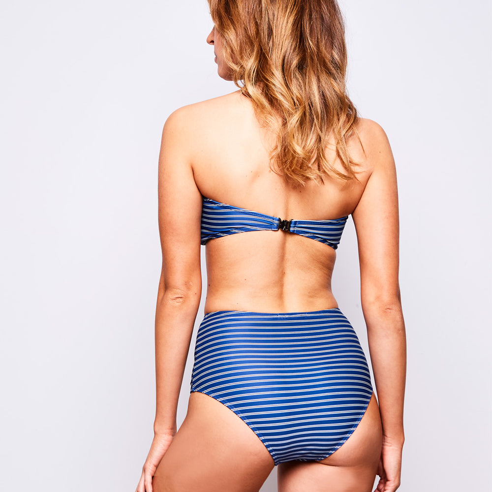 ERICA BIKINI STRIPES NAVY BLUE - Swimwear by Contessa Volpi