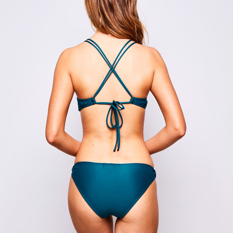 2017 summer 3 estelle bikini dark green swimwear contessa volpi