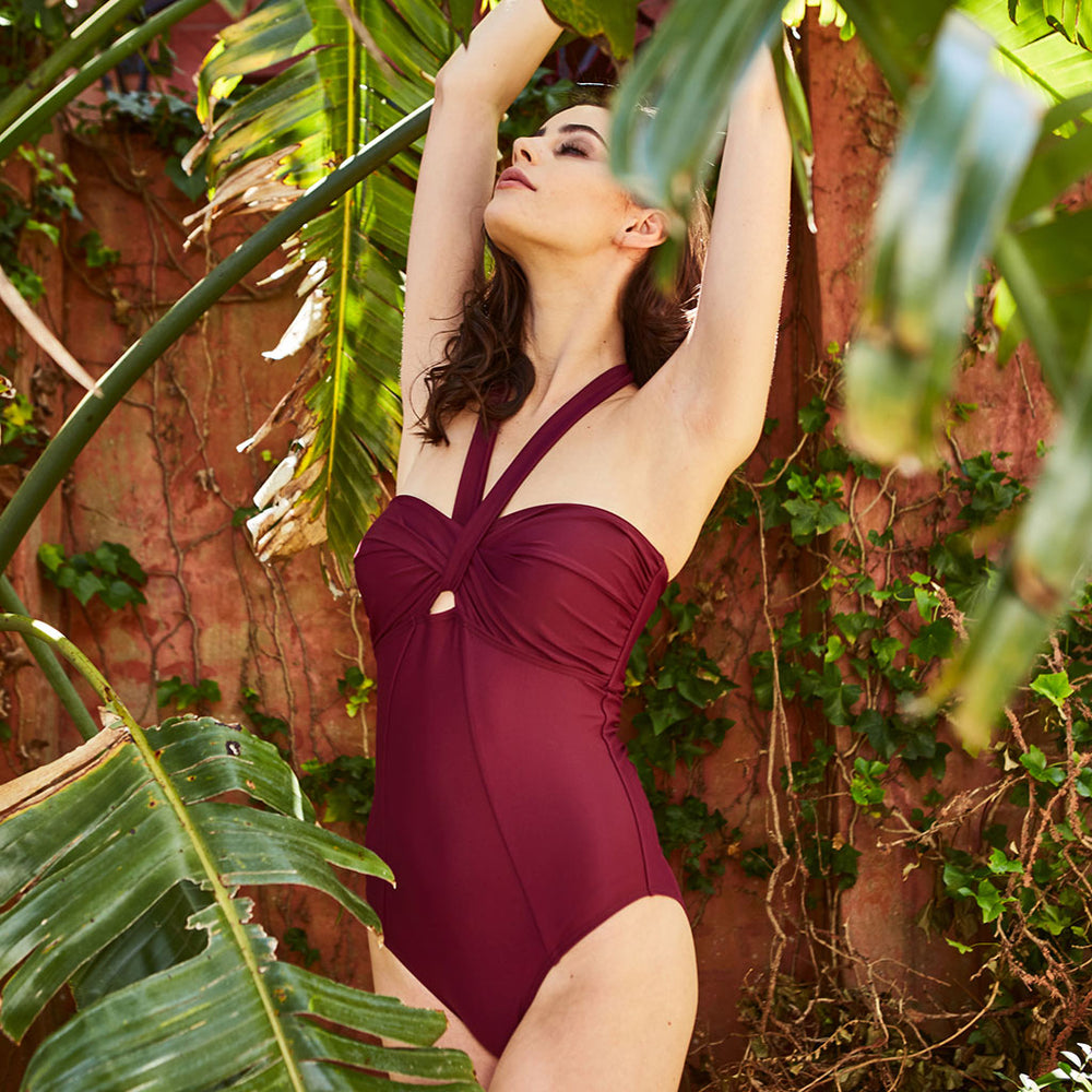 ADINA ONE PIECE AUBERGINE - Swimwear by Contessa Volpi