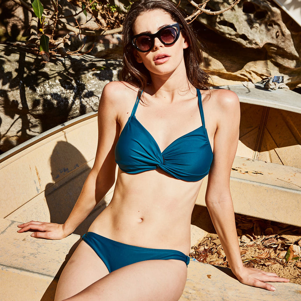 ESTELLE BIKINI DARK GREEN - Swimwear by Contessa Volpi
