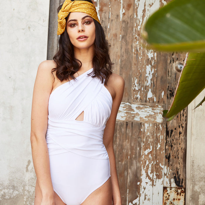 2017 summer 4 elle one piece white swimsuit contessa volpi