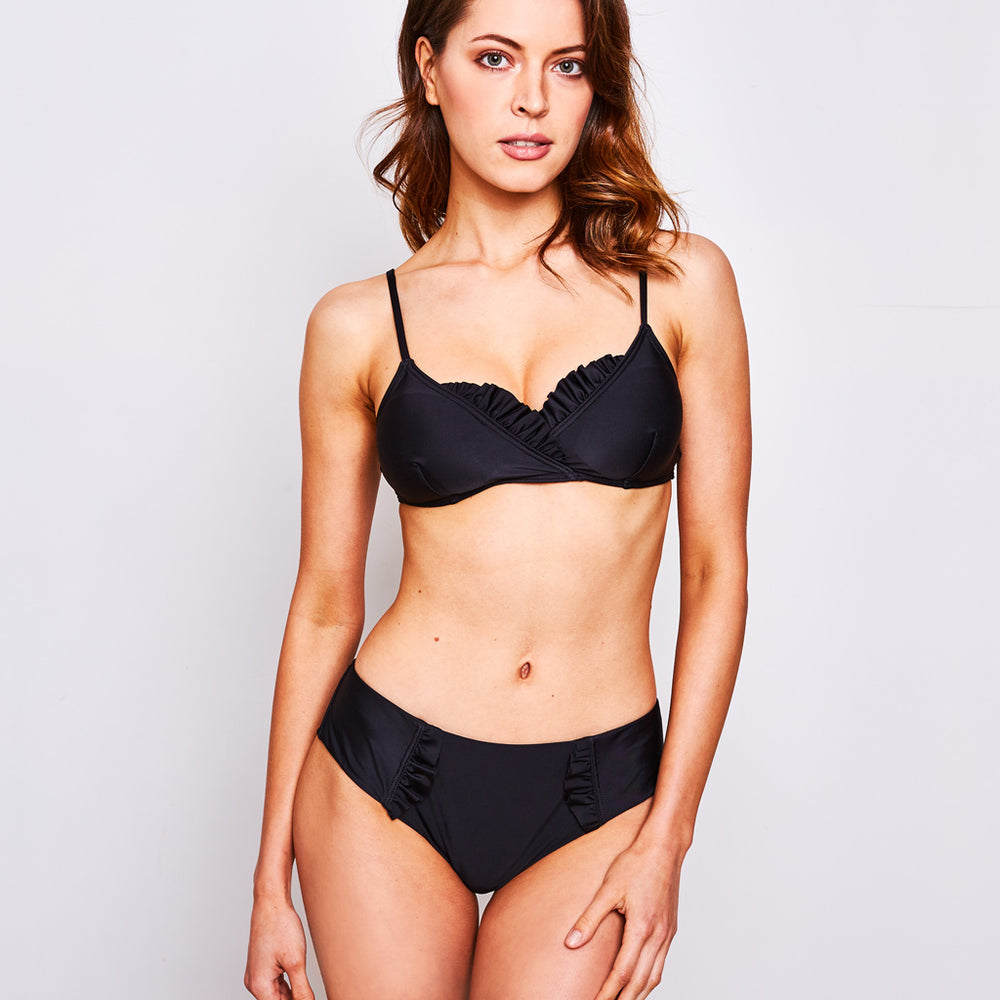 Dalia Bikini Black - Swimwear by Contessa Volpi
