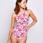 Sharlise One Piece Ramage White & Aubergine - 'Really beautiful swimwear, great fit' Alex T. - Swimwear by Contessa Volpi