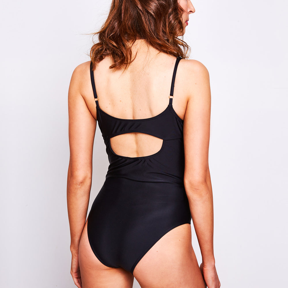 Arianna One Piece Black - Swimwear by Contessa Volpi
