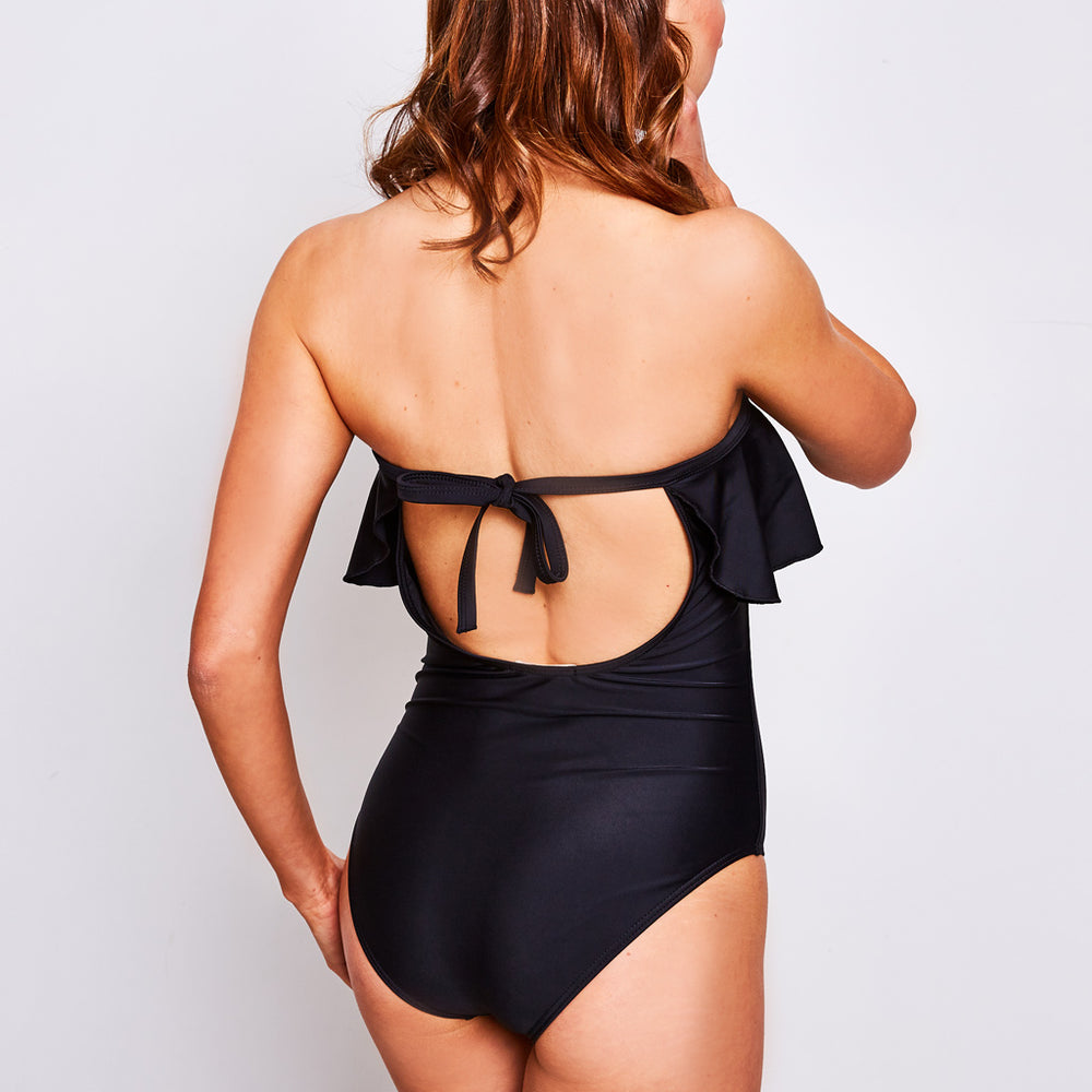 OLIVIA ONE PIECE BLACK - Swimwear by Contessa Volpi