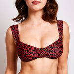 "Aria Bikini Top Leopard Print -""Best swimwear brand I have come across in a long time"""