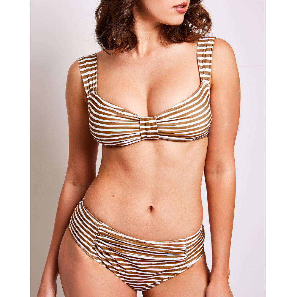 gorgeous mother brooke is wearing her contessa volpi bikini printed in stripes olive and white