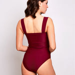 Luna one piece swimsuit burgundy swimwear, back | Contessa Volpi Summer 2019/2020 Collection
