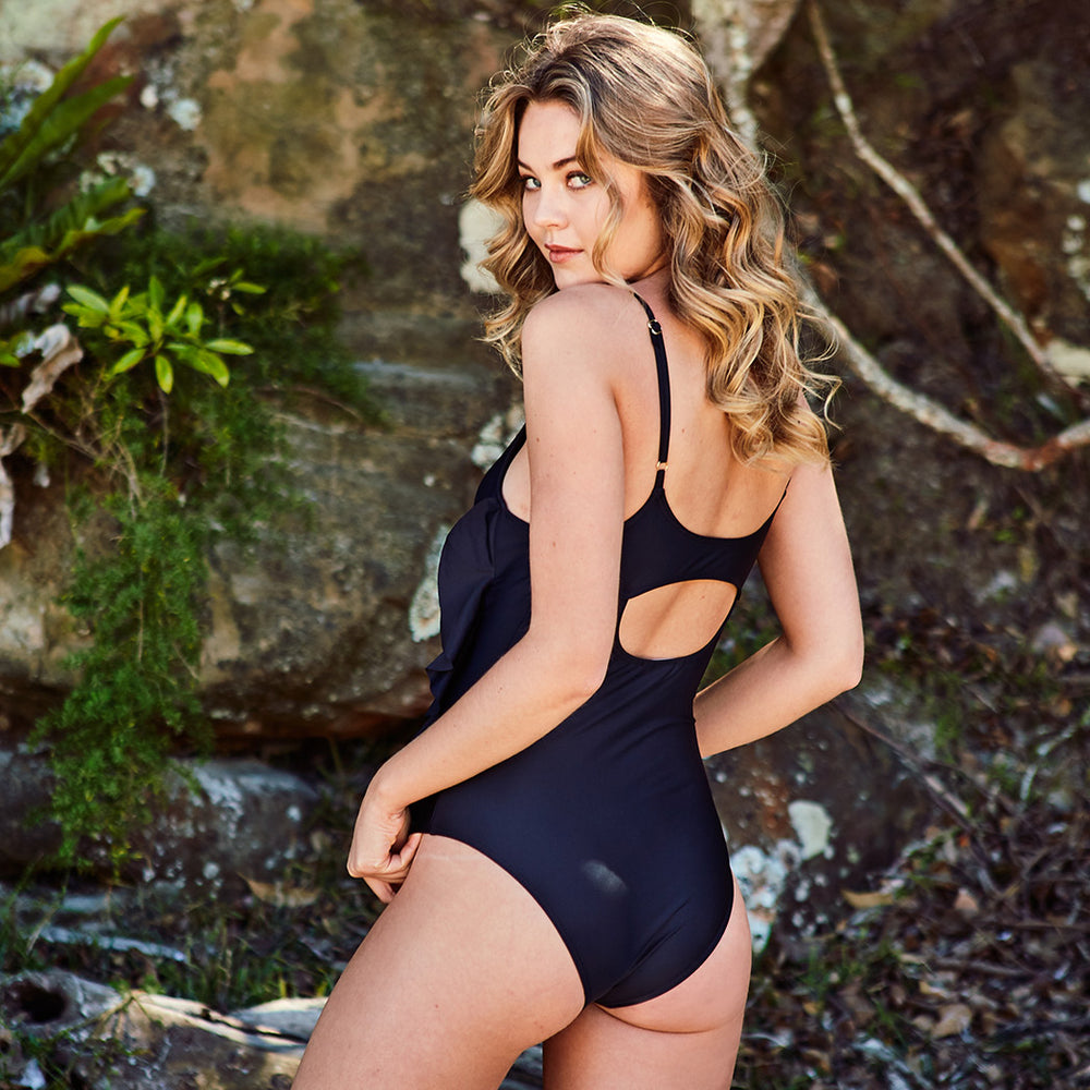Arianna One Piece Black - 'Wonderful customer service, I will definitely purchase from you again' Kellie O. - Swimwear by Contessa Volpi