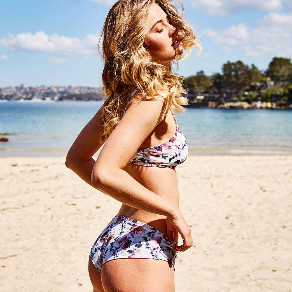 Dalia Bikini Print Wash Flowers - 'Best swimwear brand I have come across in a long time' Tracey T. - Swimwear by Contessa Volpi