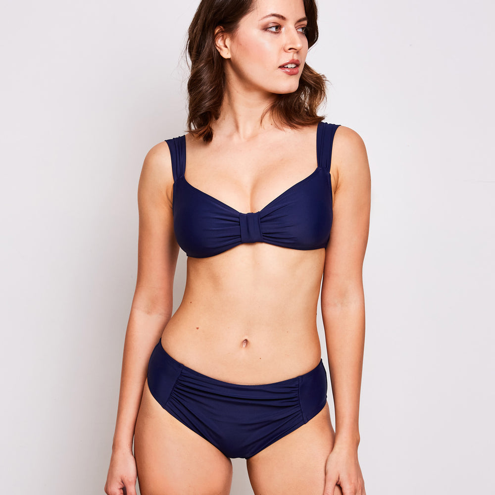 Aria bikini navy blue swimwear, front | Contessa Volpi Summer 2019/2020 Collection