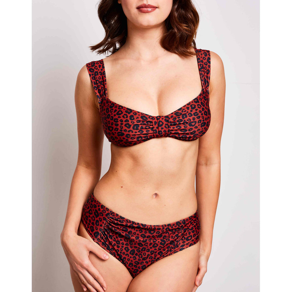 Aria bikini leopard print orange swimwear, detail | Contessa Volpi Summer 2019/2020 Collection