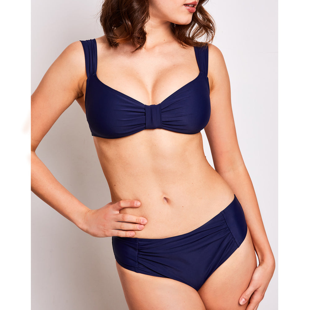 Aria bikini navy blue swimwear, detail | Contessa Volpi Summer 2019/2020 Collection
