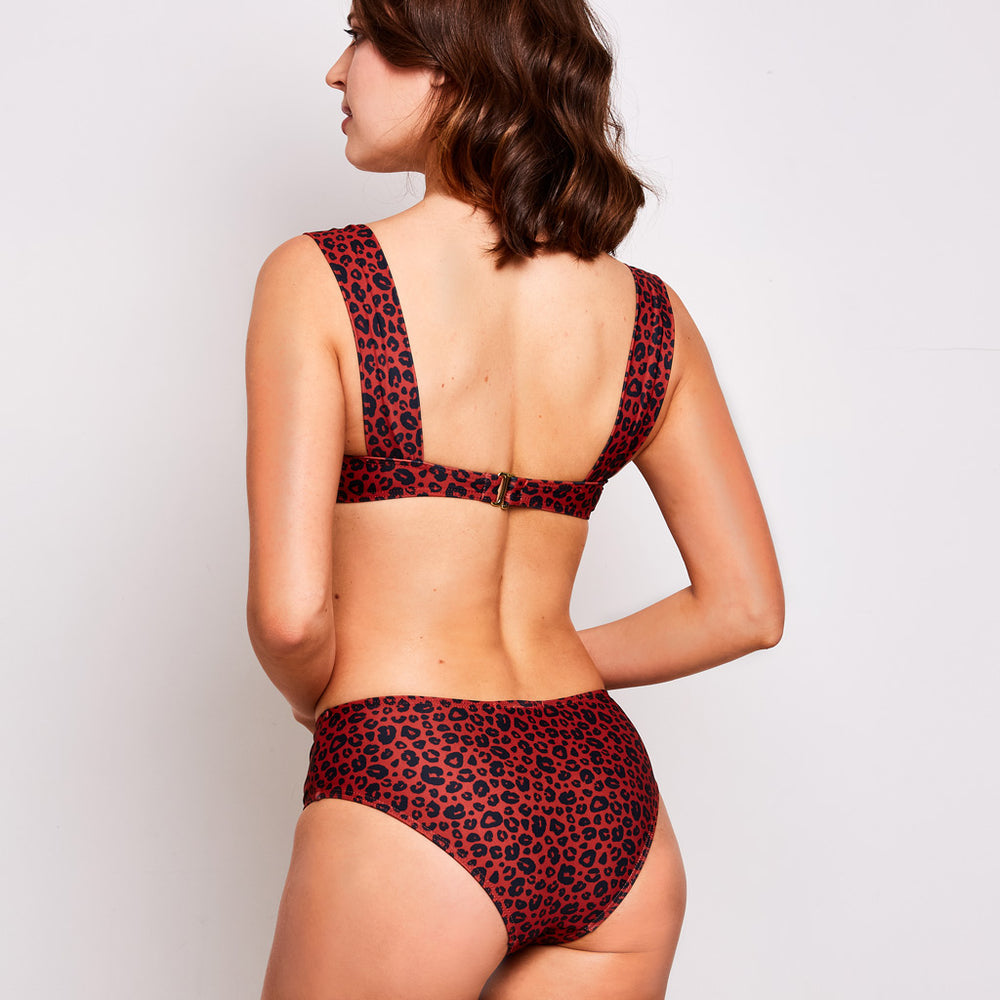 Aria bikini leopard print orange swimwear, back | Contessa Volpi Summer 2019/2020 Collection