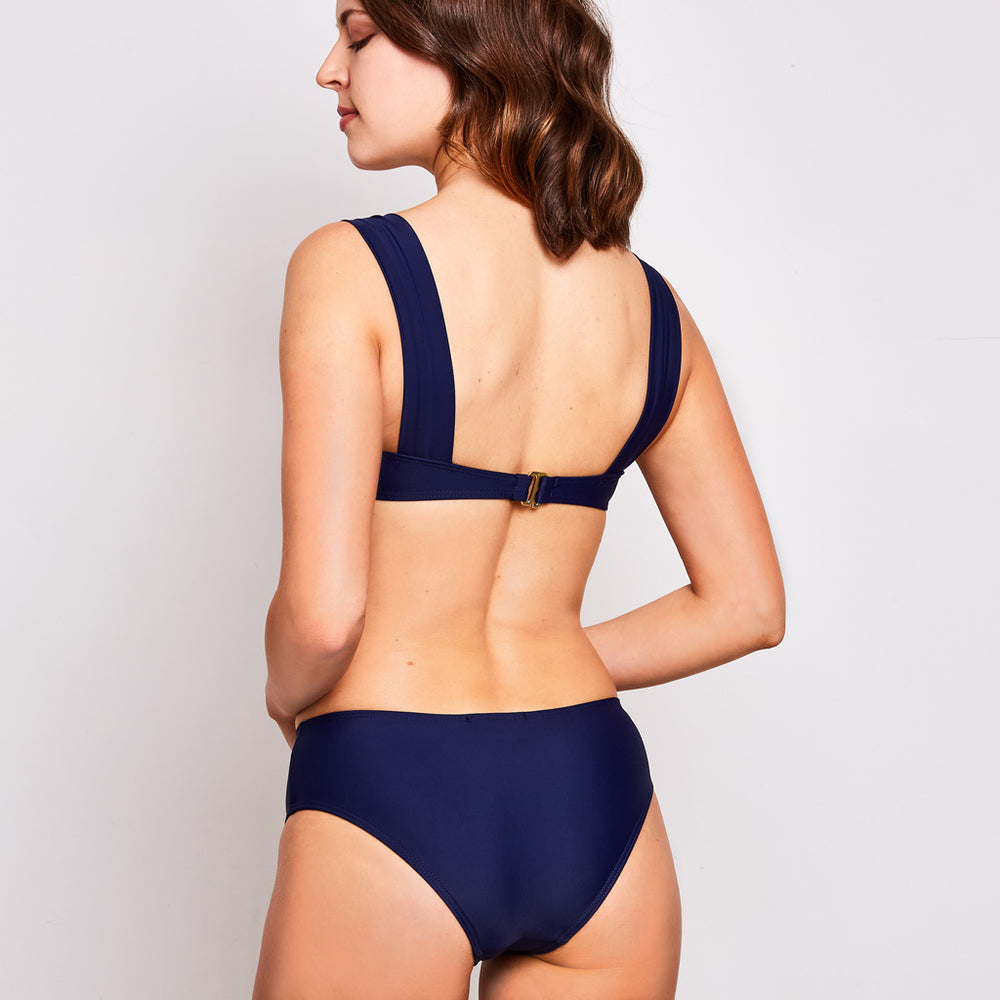 Aria bikini navy blue swimwear, back | Contessa Volpi Summer 2019/2020 Collection