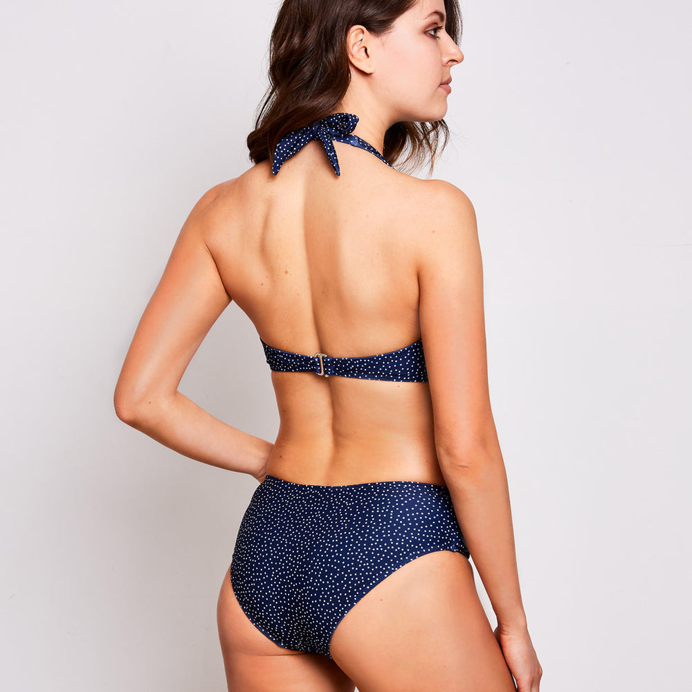 Mia bikini dots navy blue swimwear, back | Contessa Volpi Summer 2019/2020 Collection