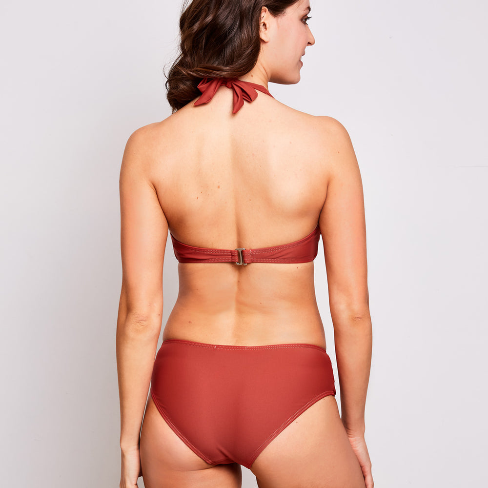 Mia bikini cinnamon swimwear, back | Contessa Volpi Summer 2019/2020 Collection